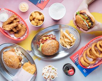 Huxtaburger Kings of Burger Cool! Serve up tasty burgers in Redfern Sydney