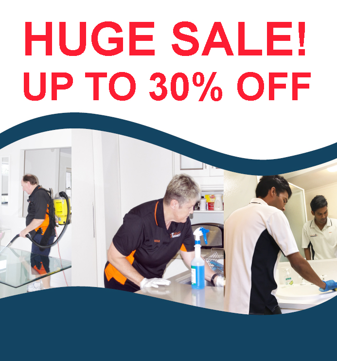 30% OFF COMMERCIAL AND HOME CLEANING BUSINESSES BUT GET IN QUICK!