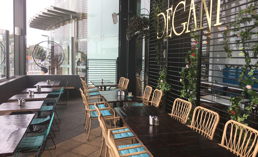 New Degani Cafe on Busy St Kilda Rd in Melbourne