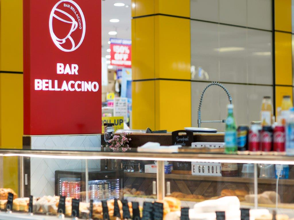 Cafe Bar Bellaccino Coffee -Great food-Premium Coffee - Shepparton Market Place