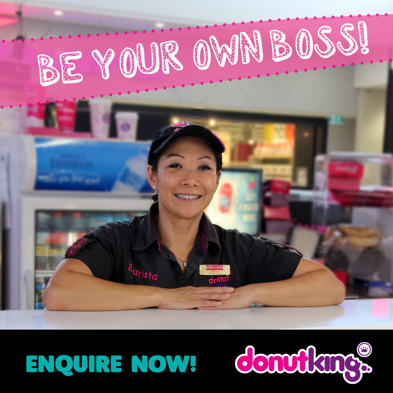 Love fresh donuts & coffee? Be your own boss with a Donut King Franchise