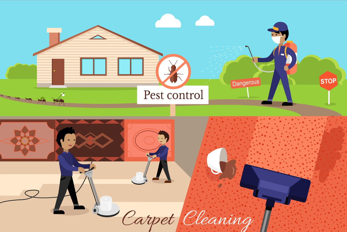 Excellent Carpet Cleaning and Pest Management Business