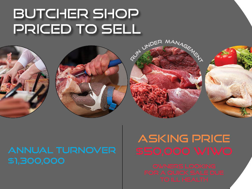 68/031b Successful Butcher Shop