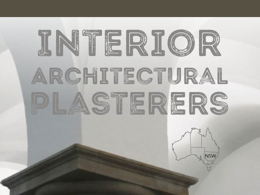N8/104  Interior Architectural Plasterers