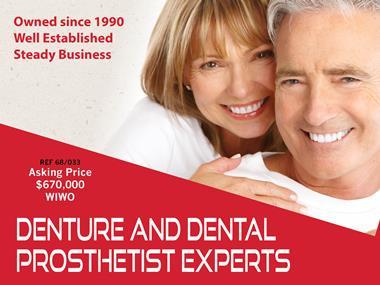 68/033 Denture & Dental Prosthetist Practice - Lifestyle Location