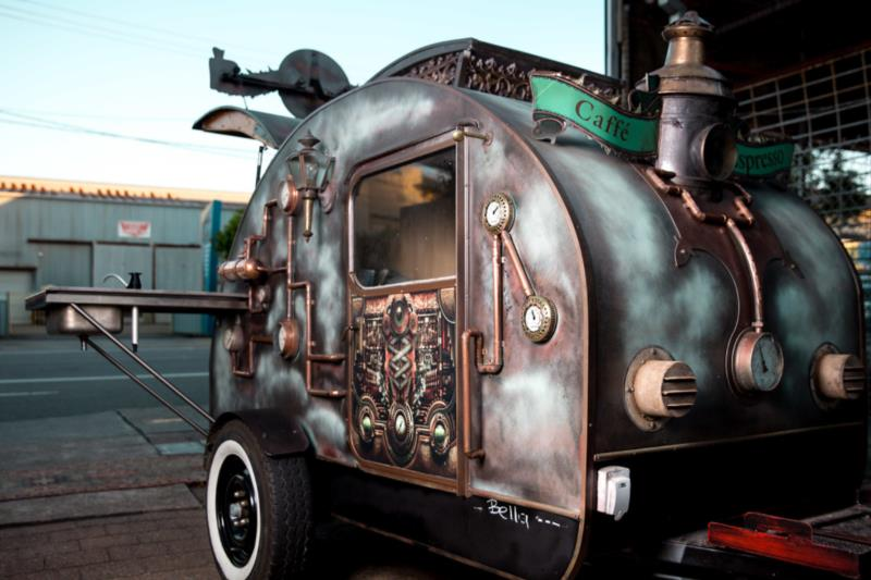 18025 Mobile Coffee One of a kind, hand crafted mobile coffee cart