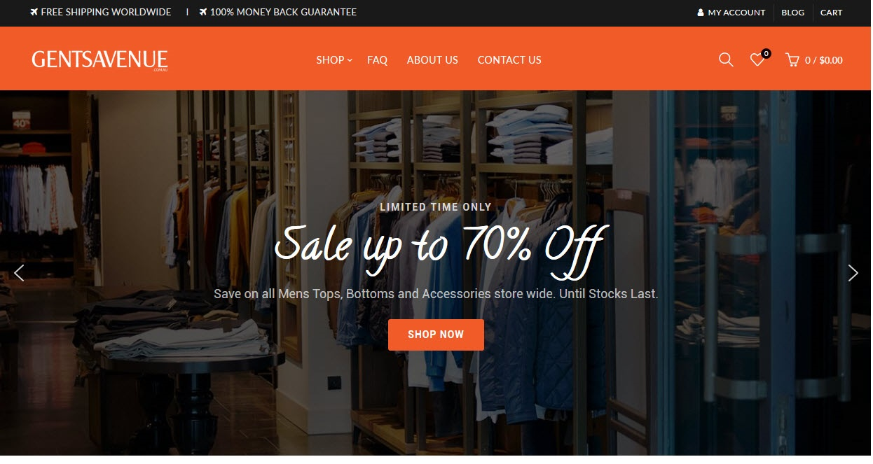 Online Mens Clothing Store