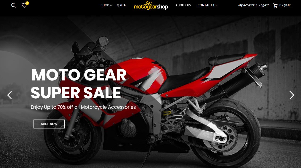 Online Motorcycle Supplies Store