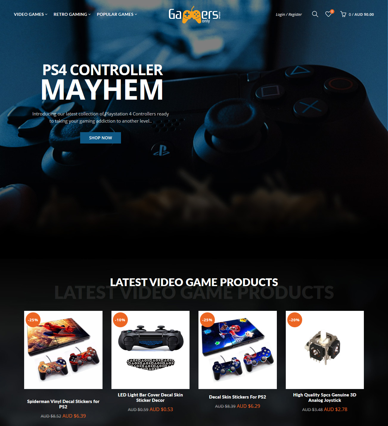 Online Video Game Supplies Business