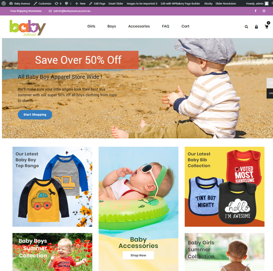 Online Baby Clothing Business