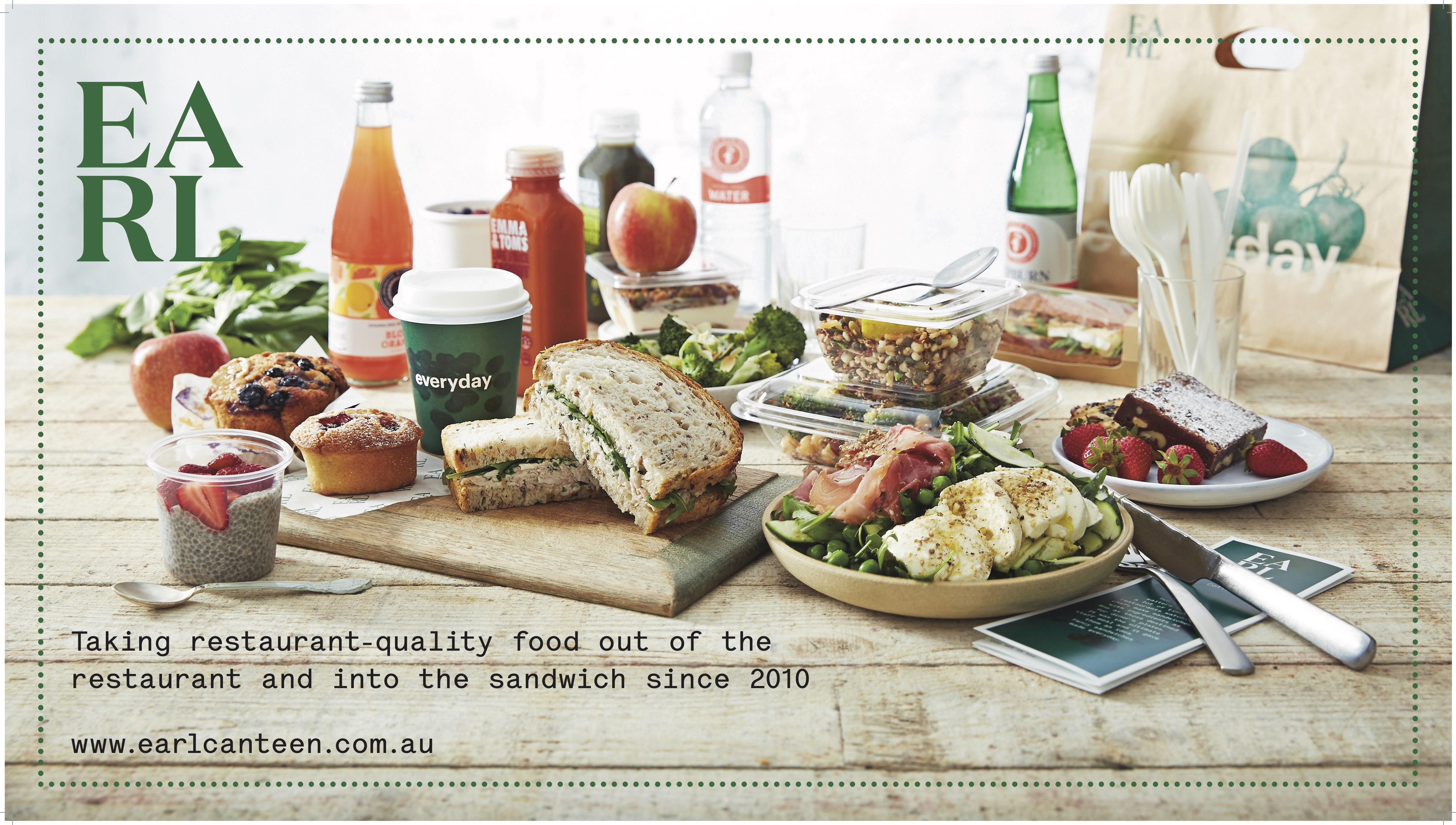 EARL Canteen | NEW Sandwich, Salad & Coffee Opportuntity | Melbourne