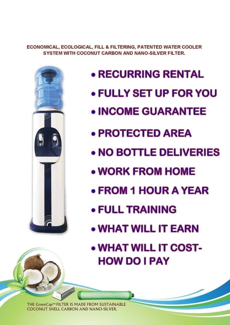 FILL & FILTERING, PATENTED WATER COOLER SYSTEM