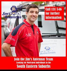 JIMS ANTENNAS.  MELBOURNE SOUTH EAST SUBURBS