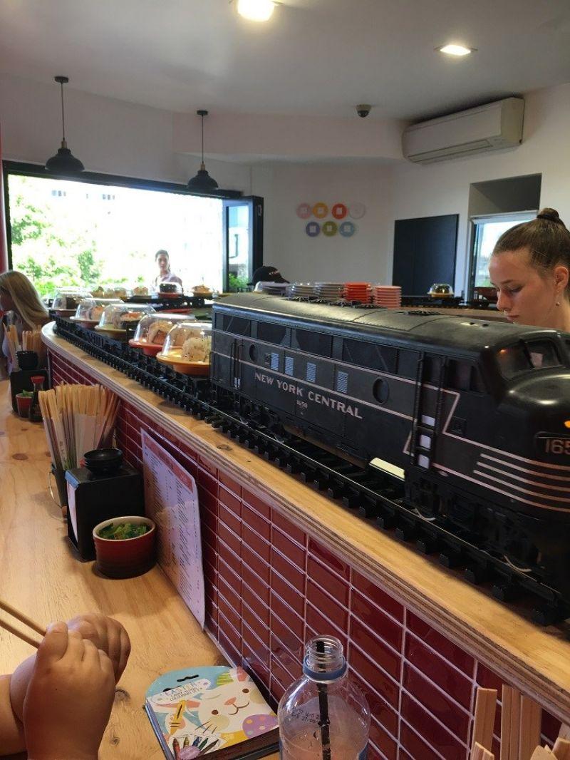 Established Sushi Restaurant with a Real Train on the Mooloolaba Esplanade