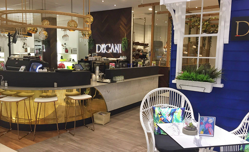 New Degani Cafe in Myer Townsville with low rent and good sales.