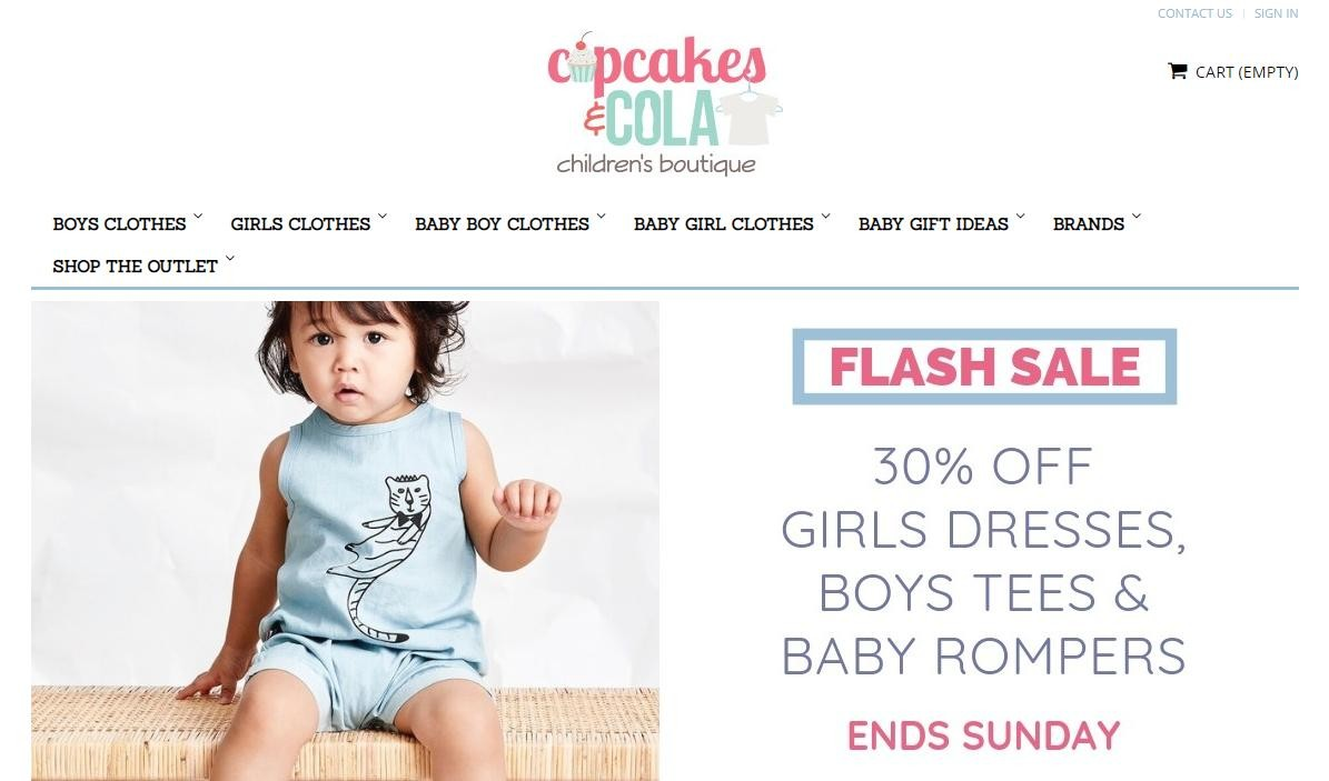 Cupcakes And Cola Childrens' Boutique (Online)