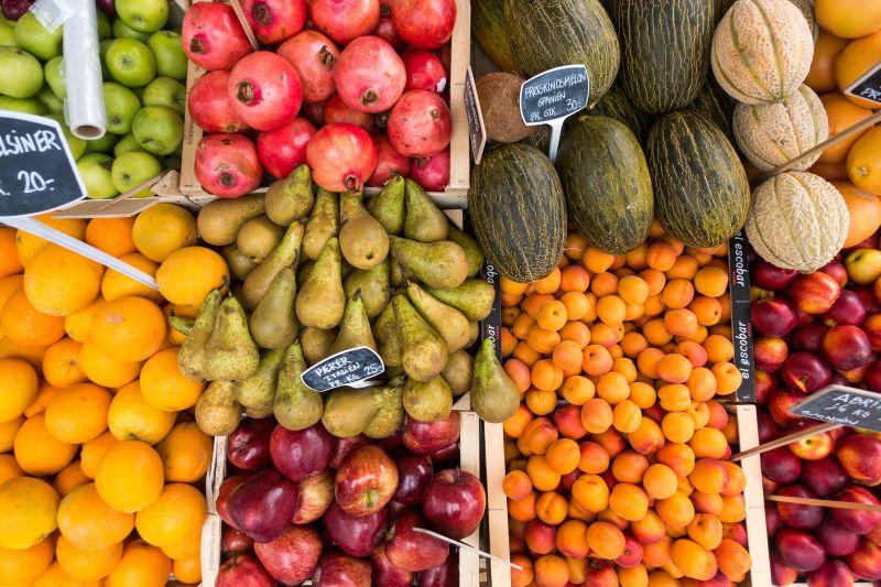 Large Supermarket Fresh Green Grocer - Providing, Fruit Vegetables, Gourmet