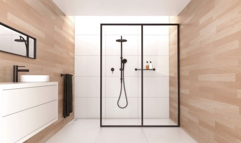 Bathroom accessories and plumbing retail business, modern flagship showroom, ext