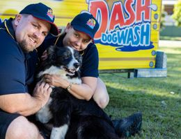 Work with dogs.  Be your own boss. Join Dash DogWash & Groom