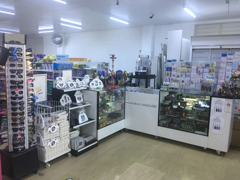 convenience store, selling cigarette, instant scratchies,  coffee, etc for sale