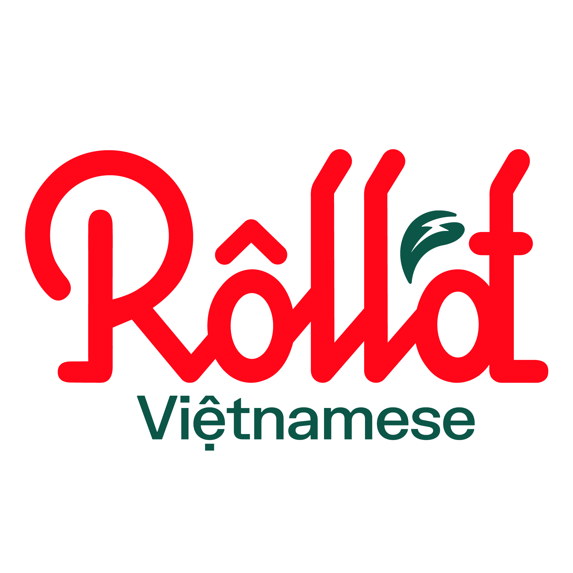 Roll'd Vietnamese Food Logo