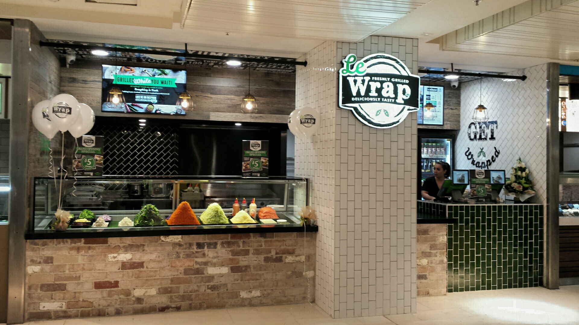 Healthy Grilled Wraps -Existing Le Wrap Franchise in busy Westfield Parrammatta