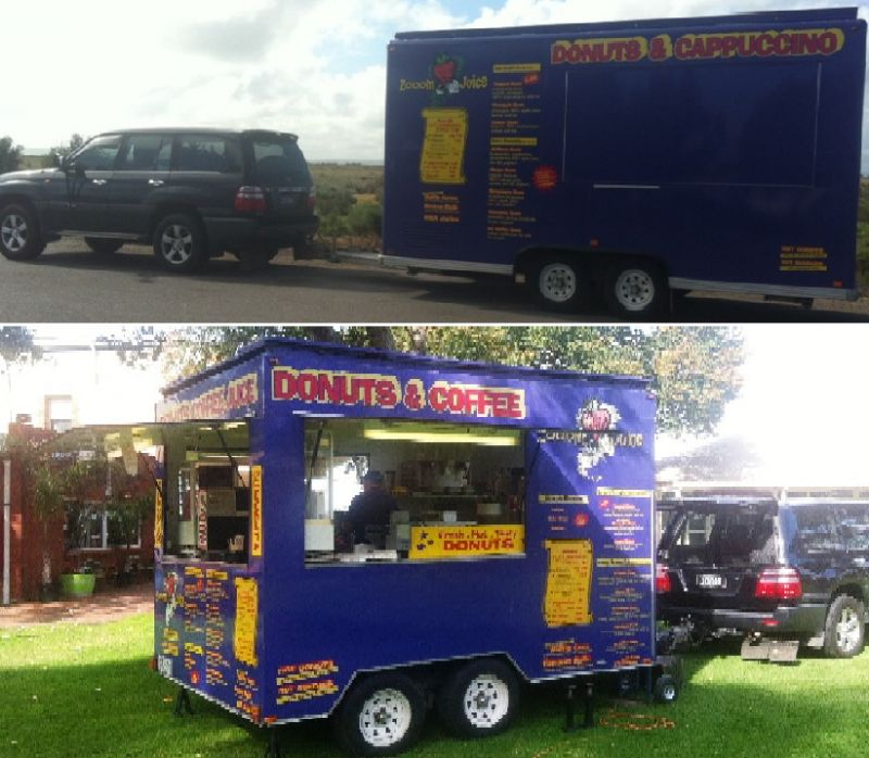 TWO CUSTOM BUILT PURPLE MOBILE CATERING VANS / LAND CRUISER ALSO AVAILABLE FOR S