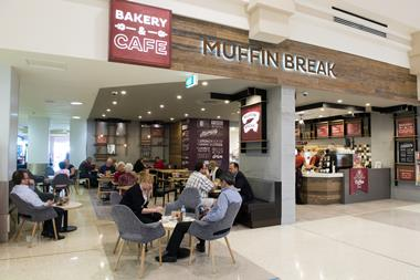 New Muffin Break Cafe at Neeta City Shopping Centre, Fairfield