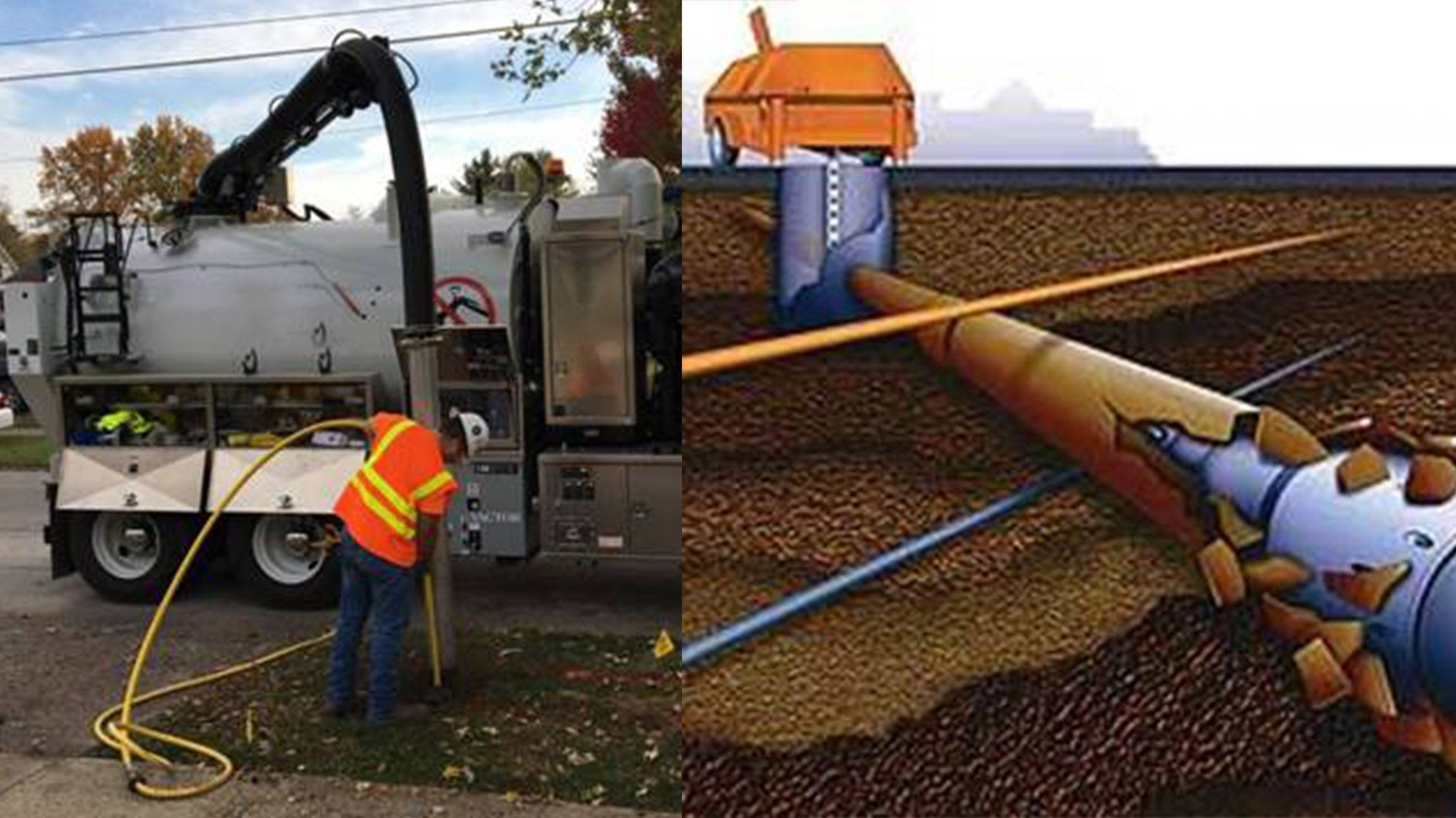 Managed Trenchless Technology - Pipe Bursting and Vacuum Excavation