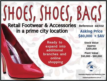 68/032  SHOES SHOES & BAGS - Well Established Business