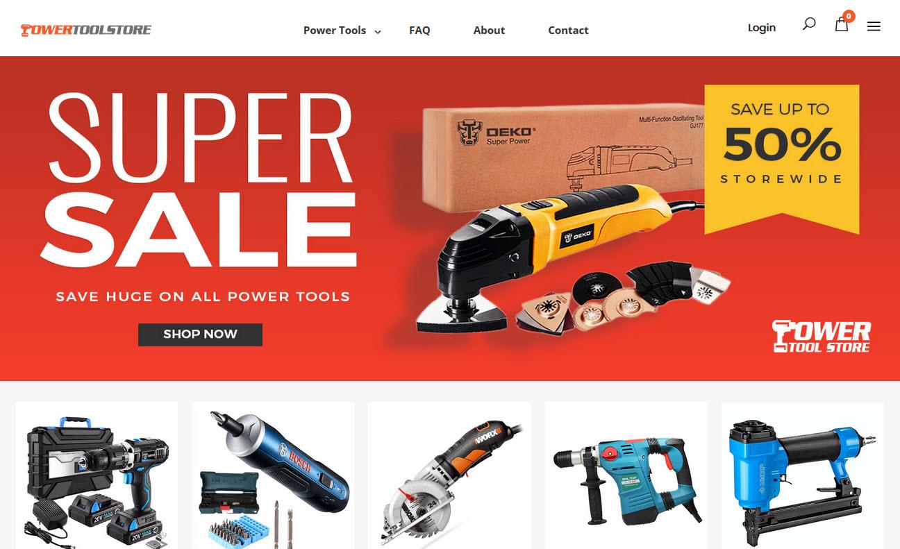 Online Power Tool Supplies Business