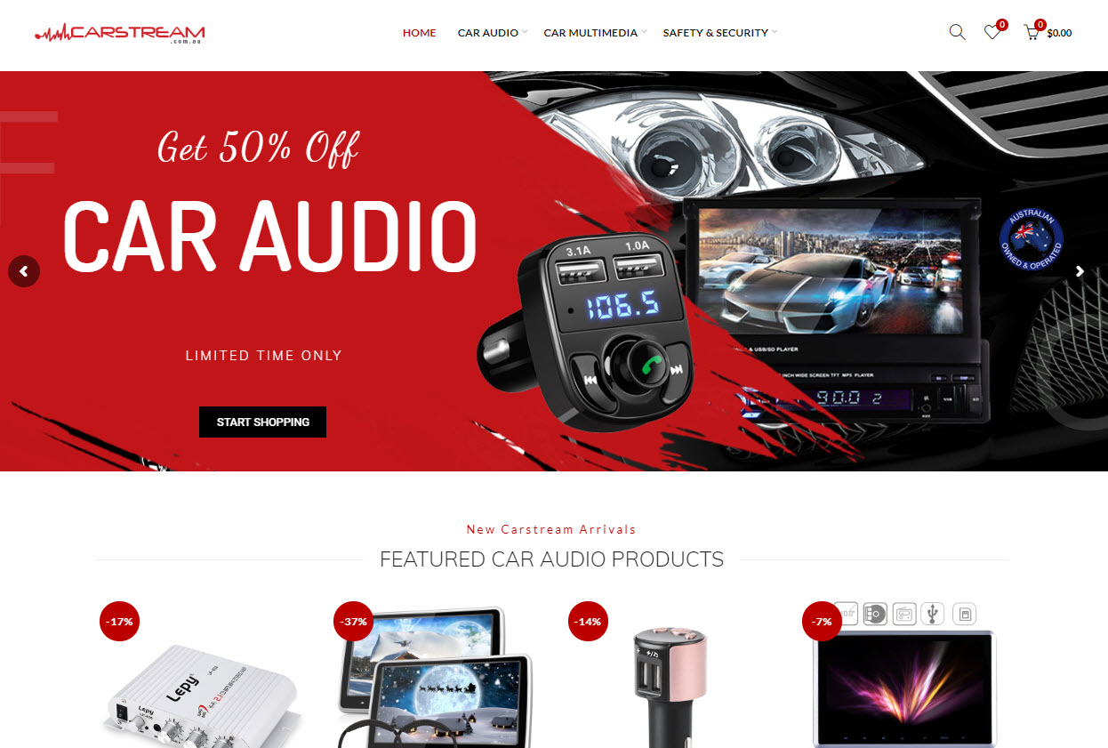 Online Car Security & Audio Business