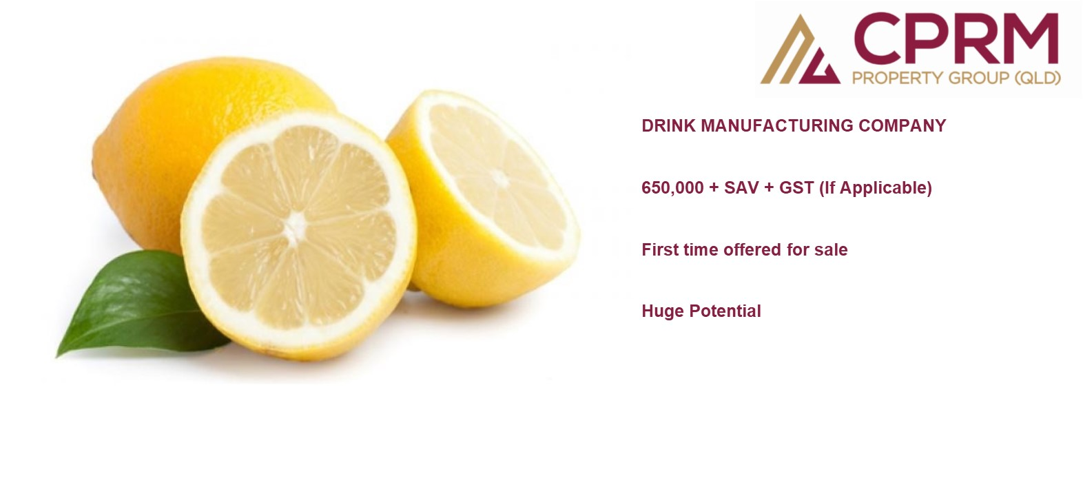 Fruit Juice Company For SALE $650,000