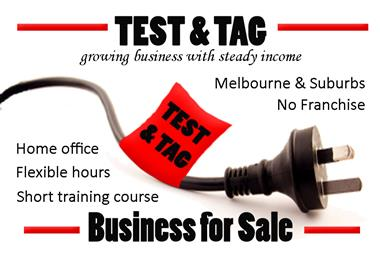Test and Tag business, part time hours, great profits, no lease to worry about