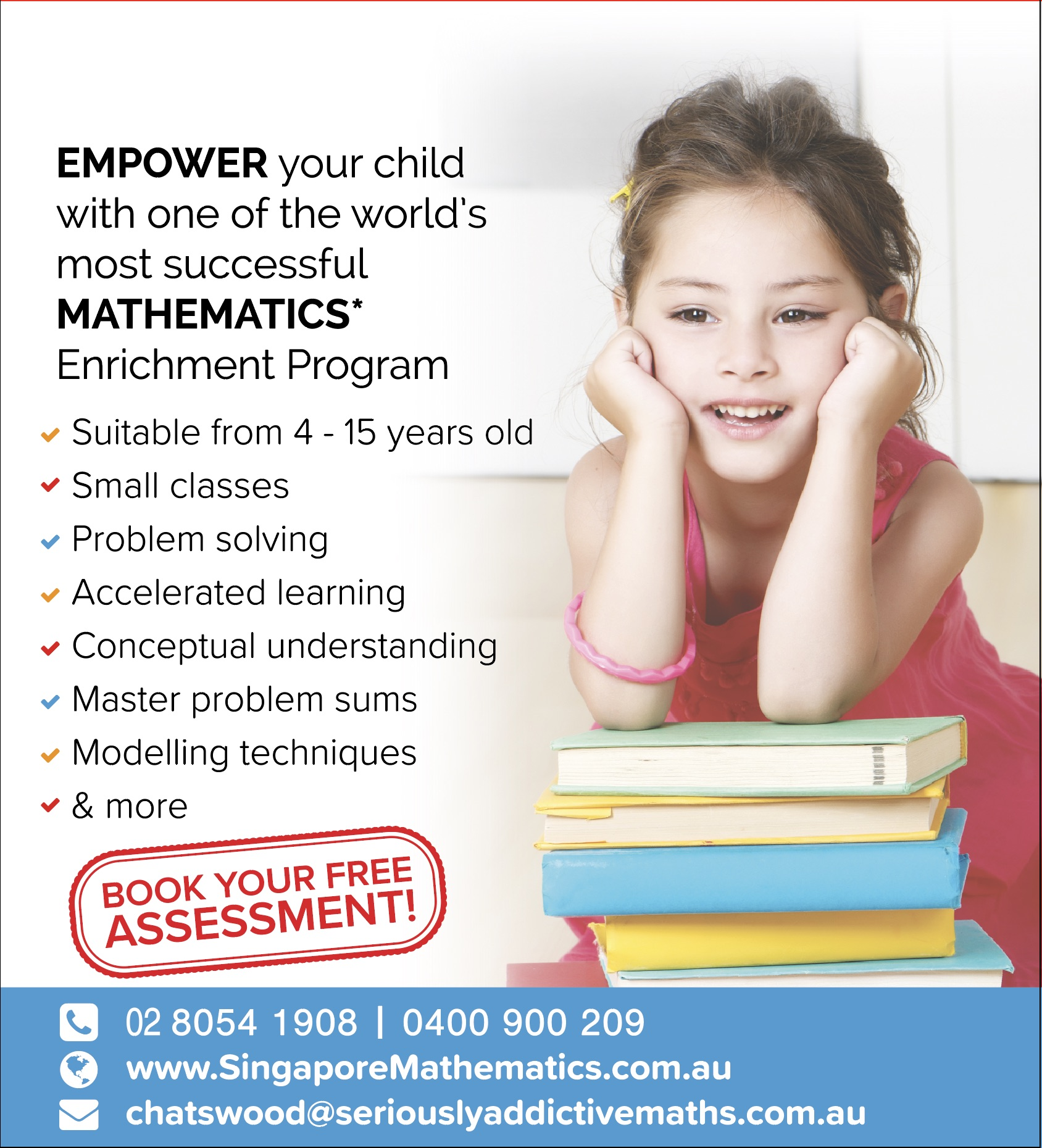 Singapore Math Centre in the heart of Chatswood with huge potential to expand