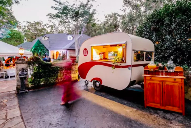 Mobile Cafe Coffee & Bar - 1950's Style Vintage Caravan Lifestyle Business