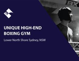 UNIQUE HIGH-END BOXING GYM (LOWER NORTH SHORE, SYDNEY) BFB0619