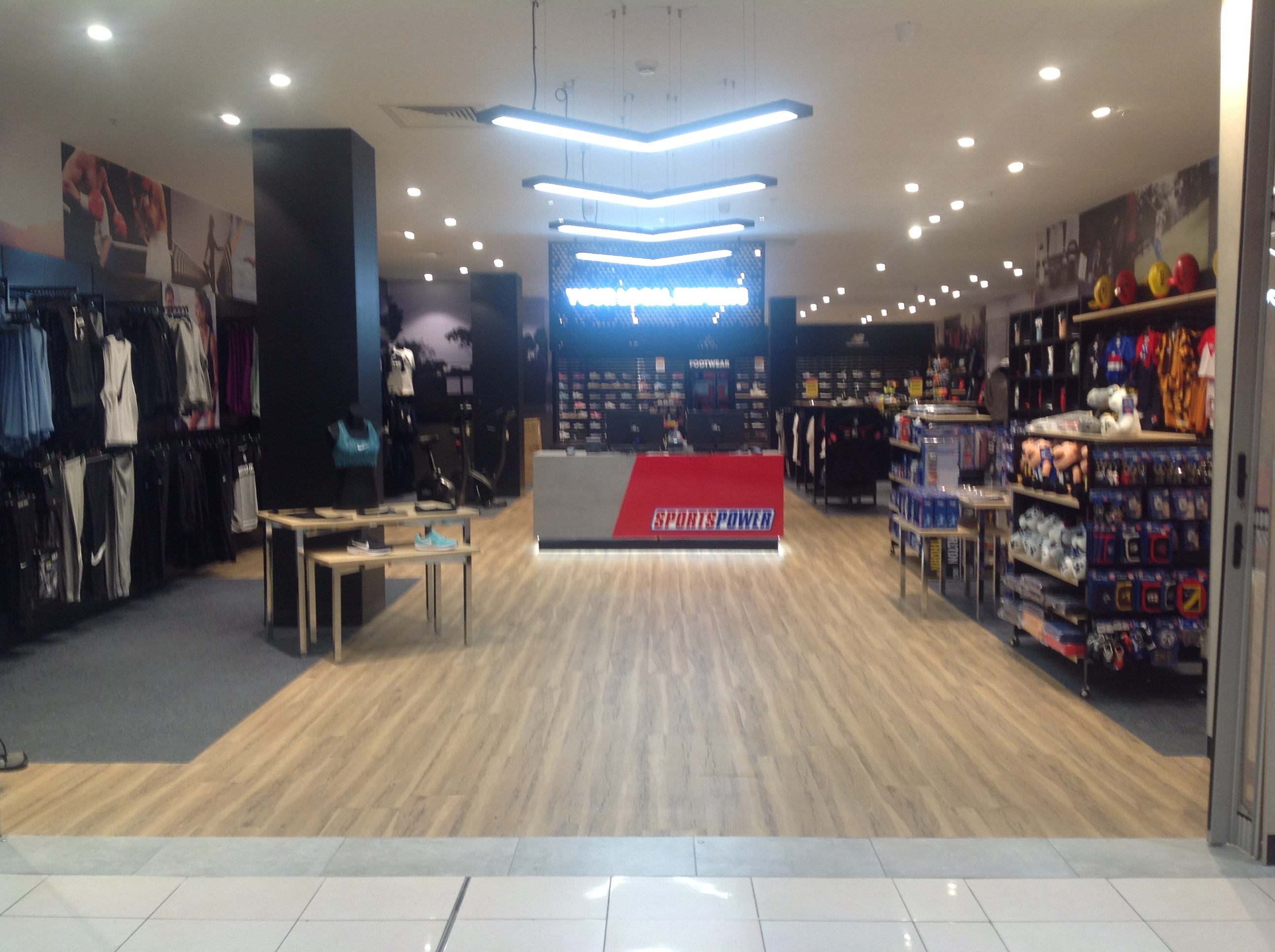 Sportspower has been in Bayside Shopping Centre for 25+years.
