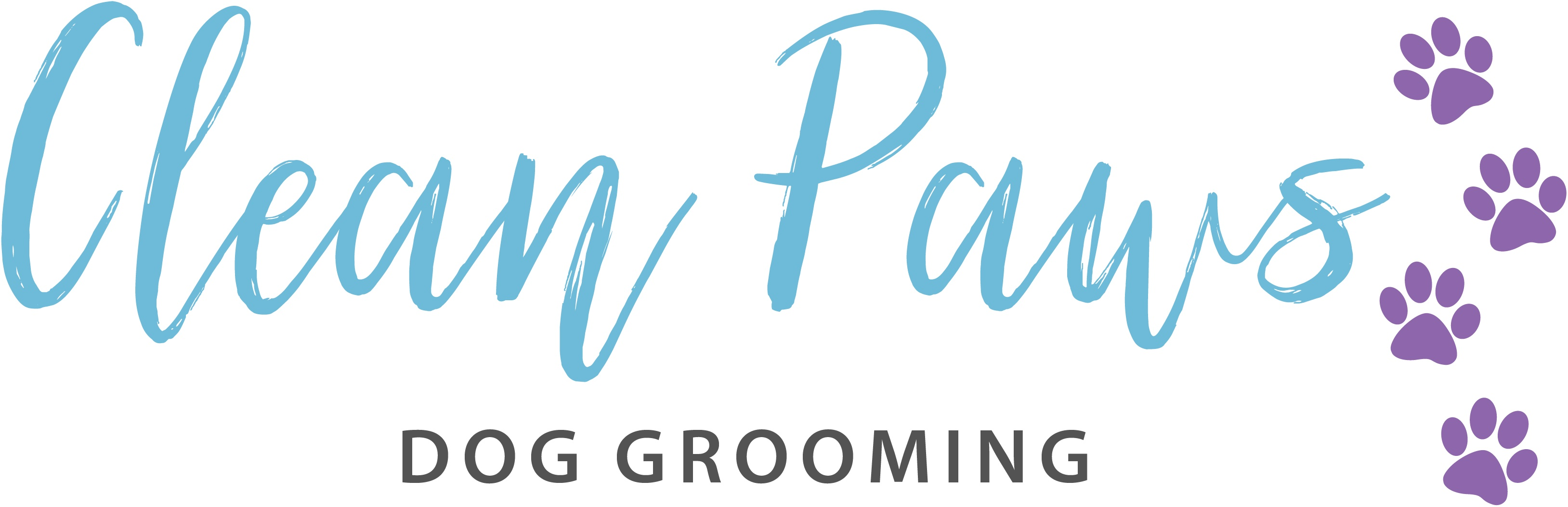 Clean Paws Dog Washing & Grooming Logo