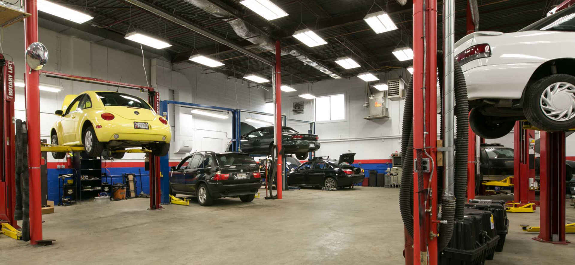 Auto shop, big, clean, bright and great prominent location.