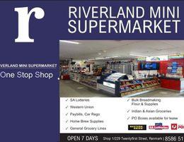 RIVERLAND MINI SUPERMARKET - WITH AUSTRALIA POST AND SA LOTTERY