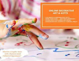 ONLINE DECORATIVE ARTWORK & GIFTS BUSINESS  RUN FROM ANYWHERE!