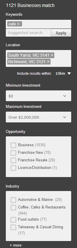 Refine businesses